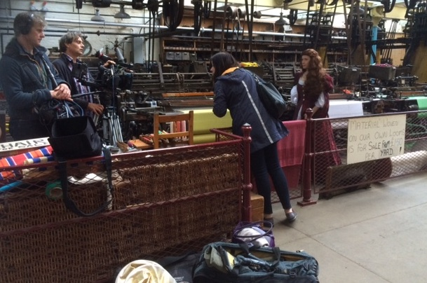 Filming A Very British Romance next to the looms
