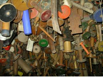 Bobbins hung up at Masson Mills