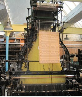 Jacquard loom in Weaving Shed
