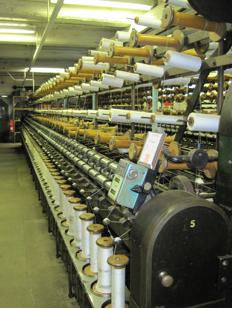 Original Masson Mill ring-spinning frames
