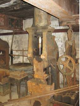 Nineteenth century steam hammer