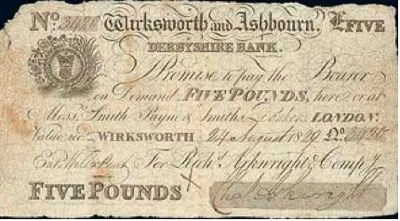 Rare Arkwright Five Pound Note